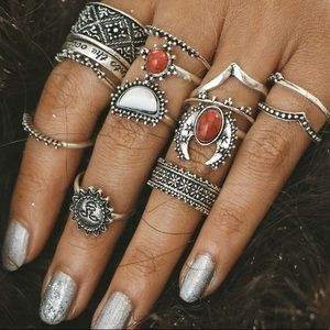 Jewelry - 13 piece boho ring set